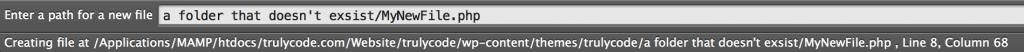 Advanced New File - create file and folder