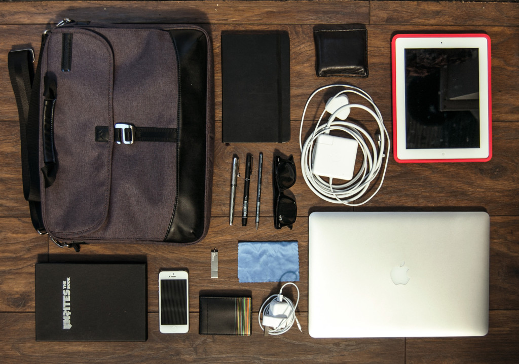 Items in a Web Designers Bag
