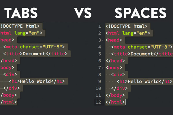 Tabs Vs Spaces in coding - Should you use spaces or tab indentation?