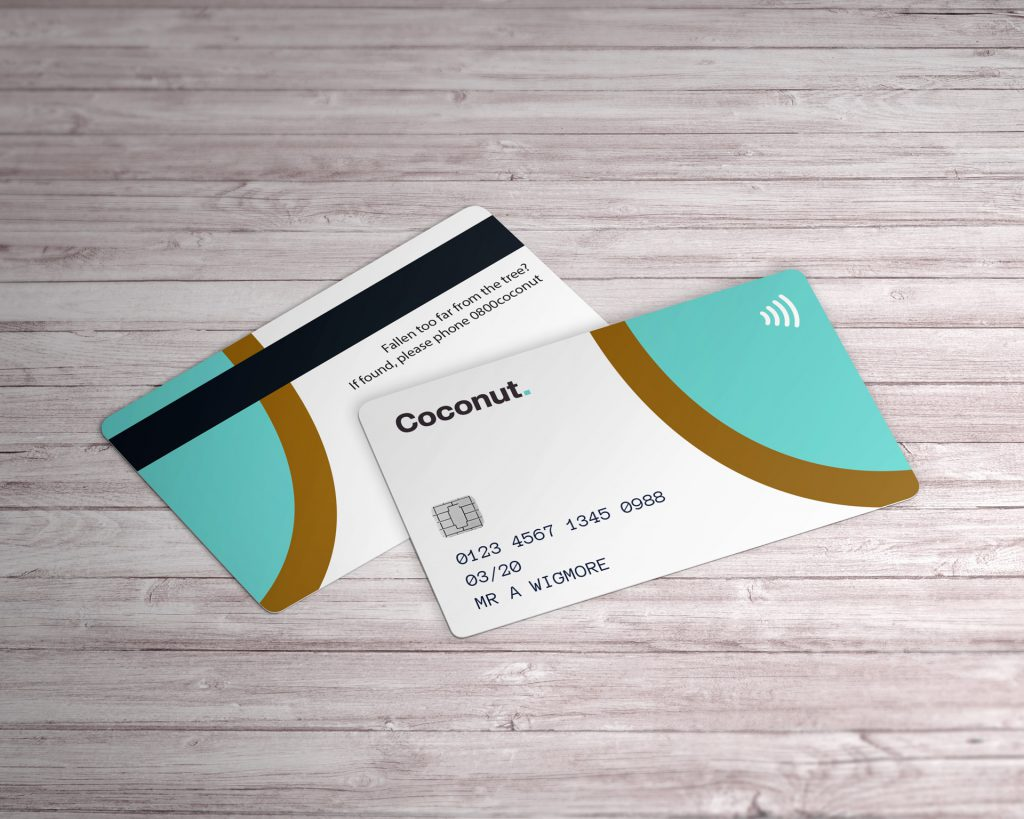 Coconut bank card design