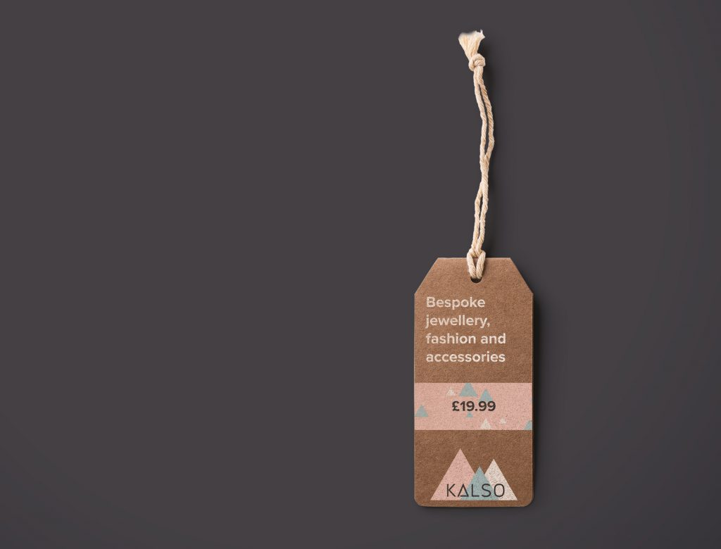 Hang Tag label design for jewellery - kalso